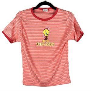 LOONEY TUNES tweetie bird T-shirt W18